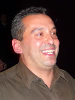 Christos Tsiolkas moments after winning best book, Commonwealth Writers' Prize