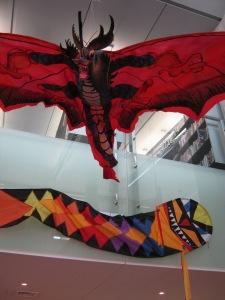 Mr Nicholls' Kites flying at New Brighton Library