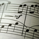 Picture of music notes
