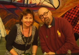 Carlos Ruiz Zafon and Rachel Huston at AWRF 2013