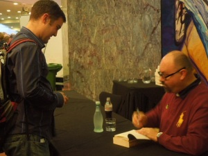 Zac Harding and Carlos Ruiz Zafon at AWRF 2013