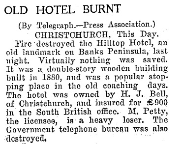 Snippet of Evening Post from Papers Past