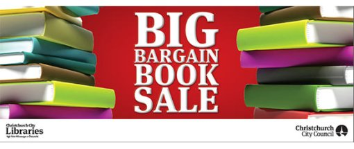 Big bargain book sale banner