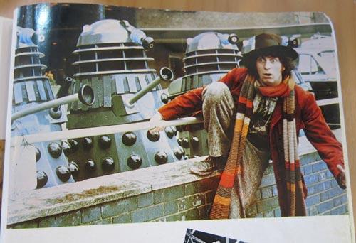 Tom Baker and Daleks