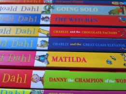 Roald Dahl Book Spines