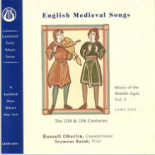 Album cover:  English Medieval Songs