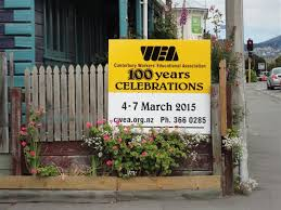 Photo of WEA Centenary placard