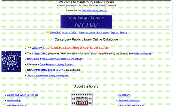 1995 library website