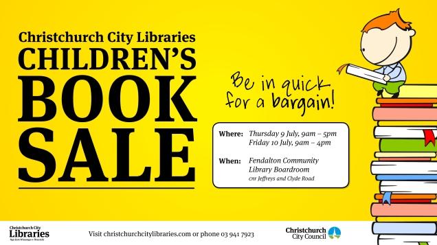 Children's book sale poster