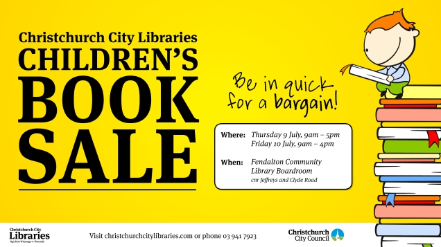 Children's book sale poster