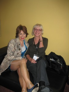 Roberta interviews Kathy Lette. Auckland Writers and Readers Festival 2012, Aotea Centre.  Flickr, CCL-AWRF-2012-05-11