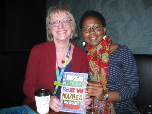 Roberta with NoViolet  Bulawayo, Christchurch WORD Festival 2014,