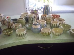A portion of my Hanmer Ware pottery collection