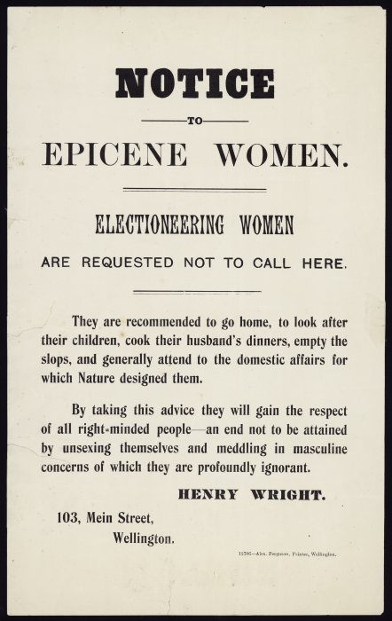 Notice to epicene women [poster]