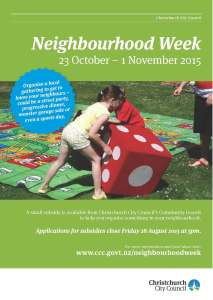 Neighbourhood Week 2015 Poster