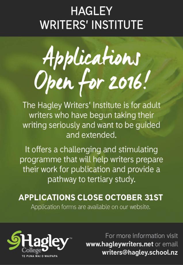 Hagley Writers' Institute