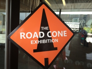 Road cone exhibition sign