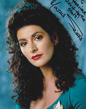 Marina Sirtis signed photo