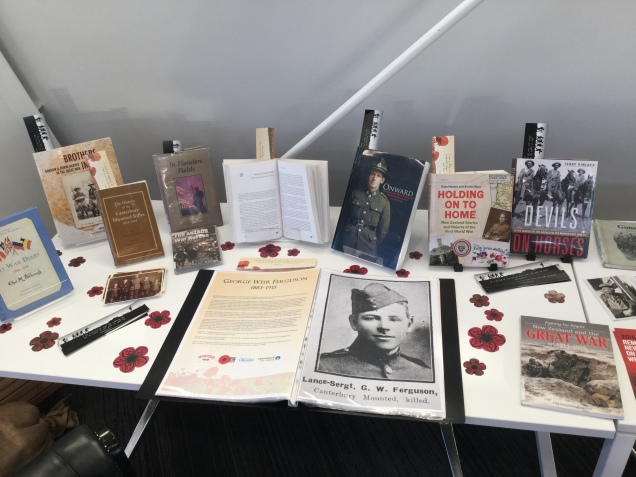 The display of Halswell Heroes at Te Hāpua: Halswell Centre