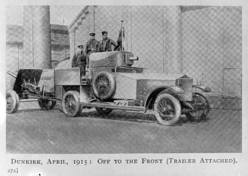 World War I soldiers, including Anthony Wilding, in an armoured Rolls Royce car, Dunkirk, France. Ref: 1/2-049756-F. Alexander Turnbull Library, Wellington, New Zealand. http://natlib.govt.nz/records/22325181
