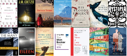 Covers of Man Booker 2016 long list