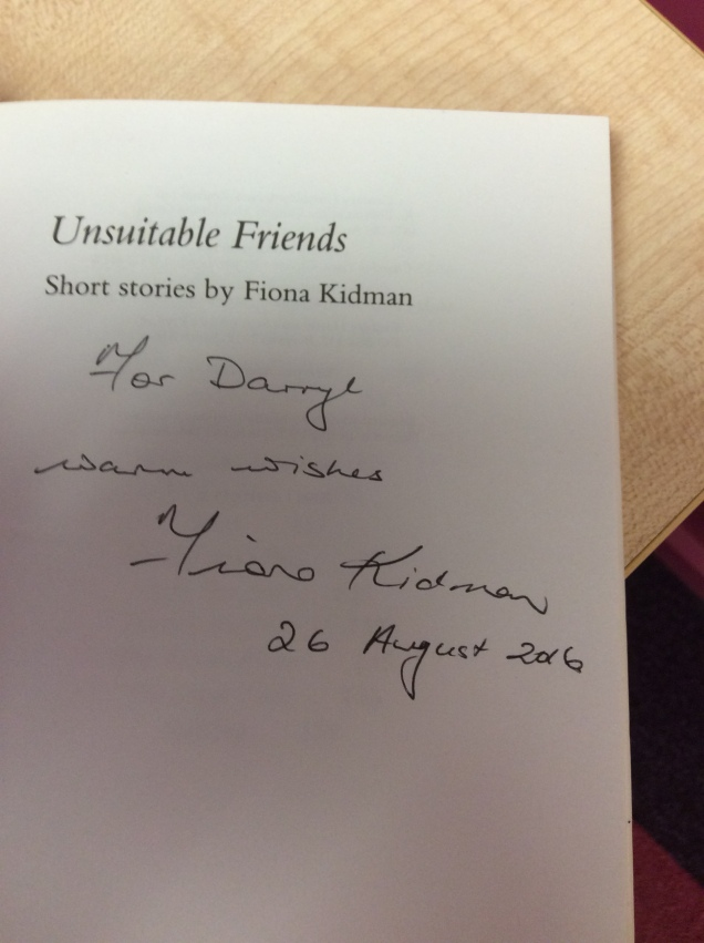 Unsuitable Friends signed Signed by Fiona Kidman