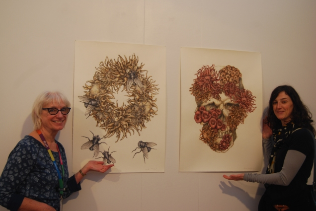 Roberta and Masha with Sandra Thomson's Coral Reef and Fated.
