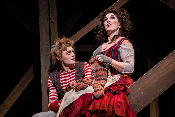 Joel Granger and Antoniette Halloran in Sweeney Todd
