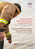 Cover of Monitoring Human Rights in the Canterbury earthquake recovery