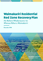 Cover of Waimakariri residential Red Zone Recovery plan