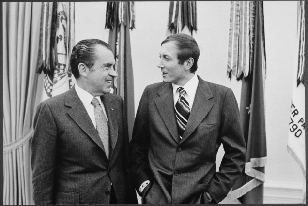 Yevtushenko with Richard Nixon [1972]