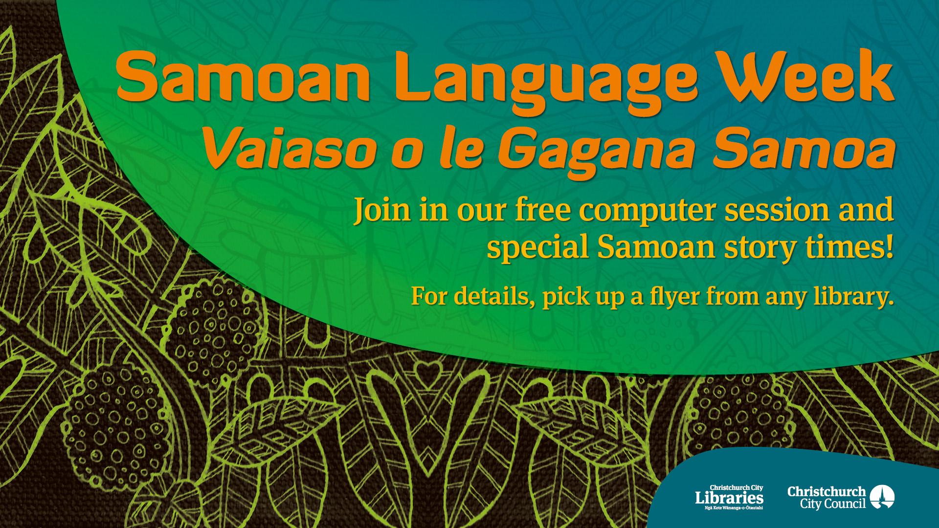 Samoan Language Week – Vaiaso ...