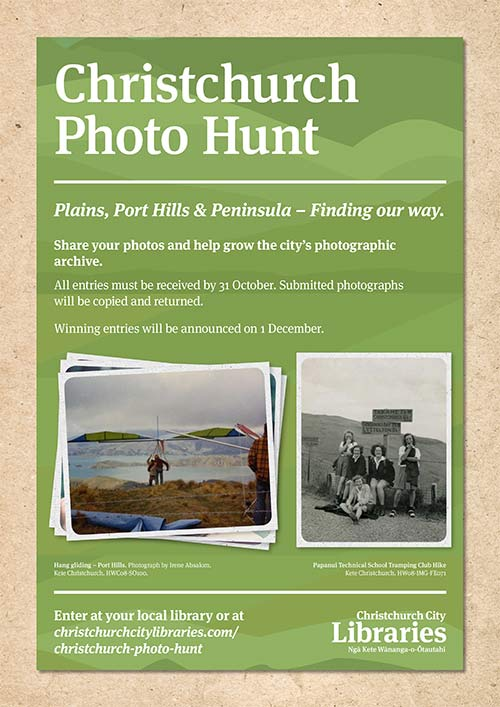 Christchurch Photo Hunt poster 2017