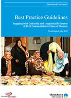 Cover of Best Practice Guidelines Engaging With Culturally and Linguistically Diverse (CALD) Communities in Times of Disaster : Final Report