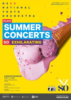 Poster image, National Youth Orchestra summer concerts