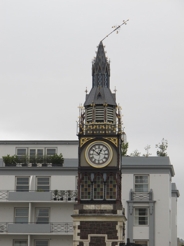 89 to 91 Victoria Street: Jubilee Clock Tower after the 22 February Earthquake