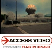 Access video thumbnail image with mushroom cloud