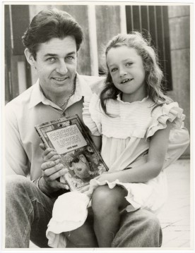 Gavin Bishop with his daughter, 8 June 1984