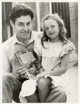 Gavin Bishop with his daughter, 8 June 1984