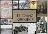 Catalogue link to Remembering the First world war 1914-1918, Teaching resource